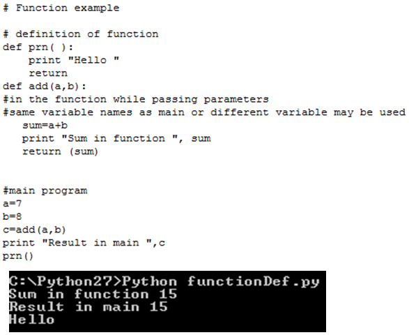 Lessons on Python with Example, Python Functions   Lessons2all