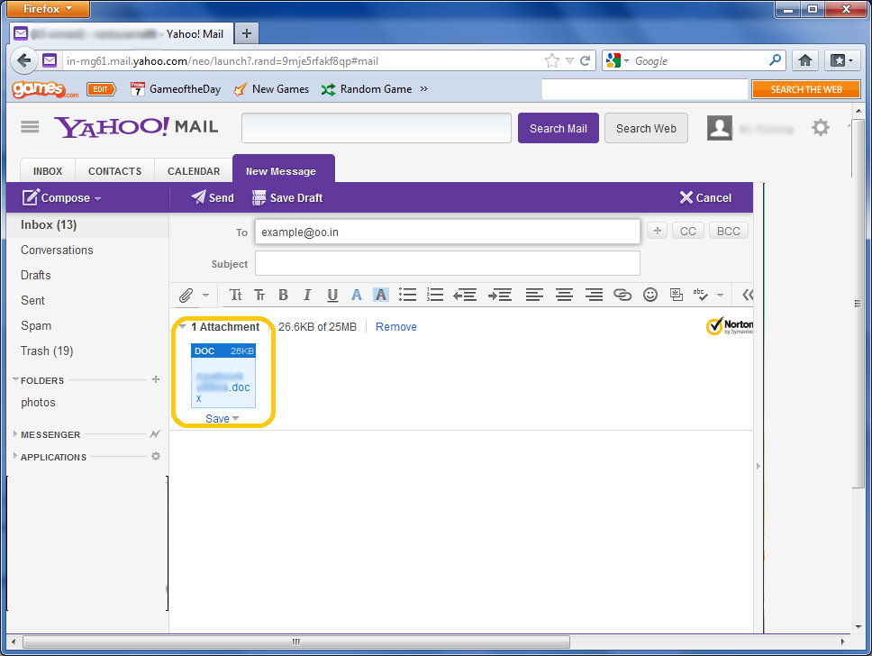 Attach Files To A Yahoo! Mail Message Lessons